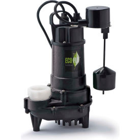 eco-flo ecd75v submersible sump pump, cast iron, 3/4 hp, 6000 gph Eco-Flo ECD75V Submersible Sump Pump, Cast Iron, 3/4 HP, 6000 GPH