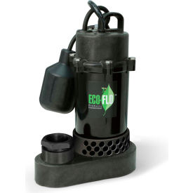 eco-flo spp50w submersible sump pump, thermoplastic, 1/2 hp, 58 gpm Eco-Flo SPP50W Submersible Sump Pump, Thermoplastic, 1/2 HP, 58 GPM