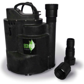 eco-flo sup59 submersible utility pump, automatic, 1/2 hp, 2520 gph Eco-Flo SUP59 Submersible Utility Pump, Automatic, 1/2 HP, 2520 GPH