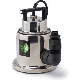 eco-flo sup64 submersible utility pump, stainless steel, manual, 1/4 hp, 1500 gph Eco-Flo SUP64 Submersible Utility Pump, Stainless Steel, Manual, 1/4 HP, 1500 GPH