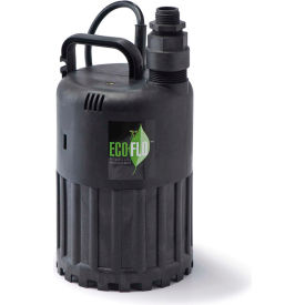 eco-flo sup80 submersible utility pump, manual, 1/2 hp, 3180 gph Eco-Flo SUP80 Submersible Utility Pump, Manual, 1/2 HP, 3180 GPH