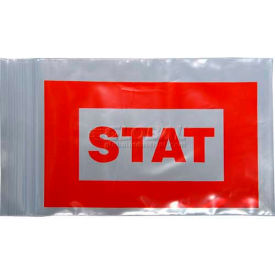 "red ""stat"" bag - seal top reclosable, 2 mil, 5"" x 8"", pkg qty 1000 Red ""STAT"" Bag - Seal Top Reclosable, 2 mil, 5"" x 8"", Pkg Qty 1000"