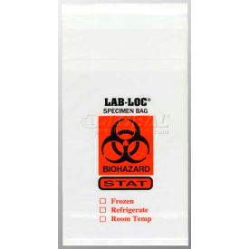 "clear adhesive closure tamper-evident 3-wall specimen transfer bag (stat), 6"" x 10"", pkg qty 1000 Clear Adhesive Closure Tamper-Evident 3-Wall Specimen Transfer Bag (STAT), 6"" x 10"", Pkg Qty 1000"