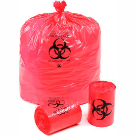"LBOR3750RE Linear Low Density Red Infectious Waste Liner, 1.5 mil, 37"" x 50"", Pkg Qty 60"