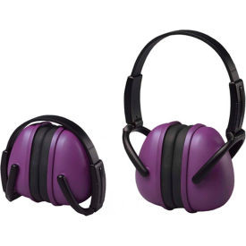 erb™ lightweight folding earmuffs, 14243, nrr 23 db, purple ERB™ Lightweight Folding Earmuffs, 14243, NRR 23 dB, Purple
