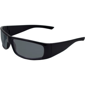 17921 Boas; Xtreme Safety Glasses, ERB Safety, 17921 - Black Frame, Smoke Lens