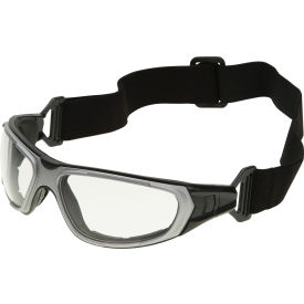 nt2 interchangeable safety glasses, erb safety, 17997 - gray frame, clear anti-fog lens NT2 Interchangeable Safety Glasses, ERB Safety, 17997 - Gray Frame, Clear Anti-Fog Lens