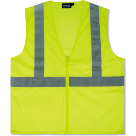 61446 Aware Wear; ANSI Class 2 Economy Mesh Vest, 61446 - Lime, Size L