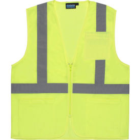 61647 Aware Wear; ANSI Class 2 Economy Mesh Vest, 61647 - Lime, Size M