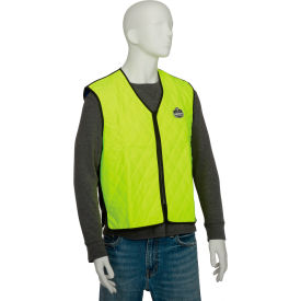 12534 Ergodyne; Chill-Its; 6665 Evaporative Cooling Vest, Lime, Large