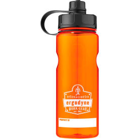 ergodyne chill-its® plastic wide mouth water bottle, 1 liter, orange, 13151 Ergodyne Chill-Its® Plastic Wide Mouth Water Bottle, 1 Liter, Orange, 13151