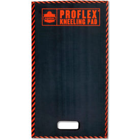 "18385 ProFlex; 385 Kneeling Pad w/Warning Stripes, Black, 16"" x 28"""