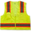 24075 Ergodyne; GloWear; 8248Z Class 2 Two-Tone Surveyors Vest - Lime, 24075