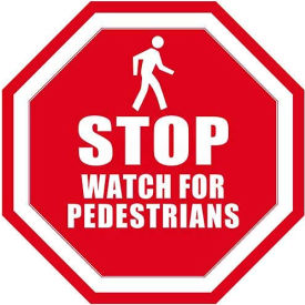 "durastripe 12"" octagone sign - stop watch for pedestrians Durastripe 12"" Octagone Sign - Stop Watch For Pedestrians"