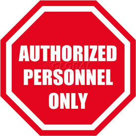 "durastripe 12"" octagone sign - authorized personnel only"