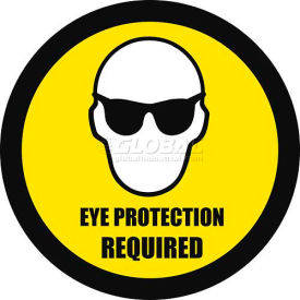 "durastripe 12"" round sign - eye protection required Durastripe 12"" Round Sign - Eye Protection Required"