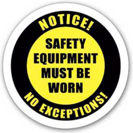 "durastripe 12"" round sign - hard hat protection required Durastripe 12"" Round Sign - Hard Hat Protection Required"