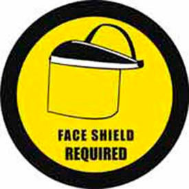 "durastripe 12"" round sign - face shield protection required Durastripe 12"" Round Sign - Face Shield Protection Required"