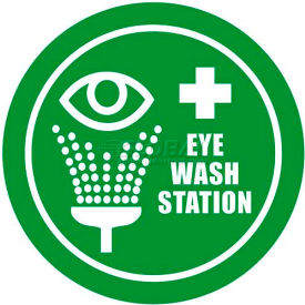 "durastripe 12"" round sign - eye wash station Durastripe 12"" Round Sign - Eye Wash Station"