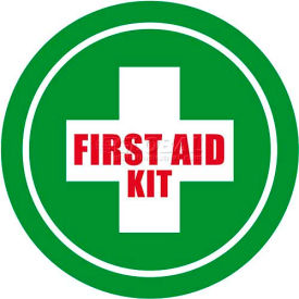 "durastripe 12"" round sign - first aid kit Durastripe 12"" Round Sign - First Aid Kit"