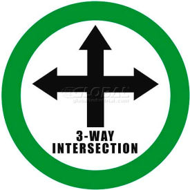 "durastripe 12"" round sign - 3-way intersection"