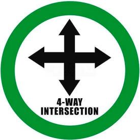 "durastripe 12"" round sign - 4-way intersection"
