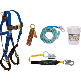 falltech® 8593a roofers kit with 7015 harness, 3 shock absorbing lanyard & roof anchor FallTech® 8593A Roofers Kit with 7015 Harness, 3 Shock Absorbing Lanyard & Roof Anchor