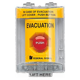 push station with sounder and cover, evacuation yellow Push Station With Sounder And Cover, Evacuation Yellow
