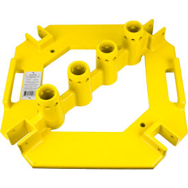 "guardian quickset multi-directional baseplate, powder coated steel, 21-3/16""w x 21-1/2""d x 6""h Guardian Quickset Multi-Directional Baseplate, Powder Coated Steel, 21-3/16""W x 21-1/2""D x 6""H"