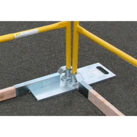 "guardian toe-board attachment, galvanized steel, for use with baseplate, 21-1/2""w x 3-1/2""d x 2""h Guardian Toe-Board Attachment, Galvanized Steel, For Use With Baseplate, 21-1/2""W x 3-1/2""D x 2""H"