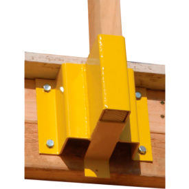 "guardian guardrail receiver for 2"" x 4"" boards, powder coated steel, yellow, 9""w x 8""d x 7""h Guardian Guardrail Receiver for 2"" x 4"" Boards, Powder Coated Steel, Yellow, 9""W x 8""D x 7""H"