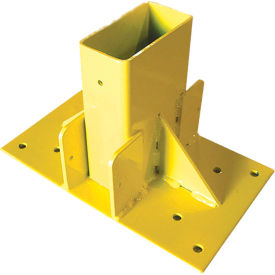 "guardian 2"" x 4"" stair mount, powder coated steel, yellow, 11""w x 7""d x 7-1/2""h Guardian 2"" x 4"" Stair Mount, Powder Coated Steel, Yellow, 11""W x 7""D x 7-1/2""H"