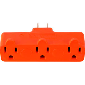 gogreen power, 3 outlet tri-tap rubber adapter, gg-03418orb, orange GoGreen Power, 3 Outlet Tri-Tap Rubber Adapter, GG-03418ORB, Orange