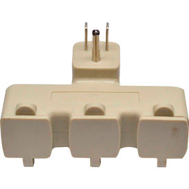 gogreen power 3 outlet tri-tap adapter with covers, gg-03431be - beige GoGreen Power 3 Outlet Tri-tap adapter with covers, GG-03431BE - Beige