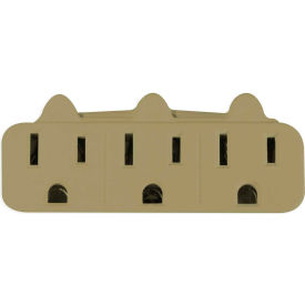 gogreen power, gg-13000tt, 3 outlet wall tap - tan GoGreen Power, GG-13000TT, 3 Outlet Wall Tap - Tan