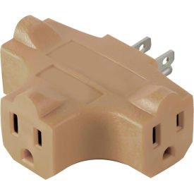 gogreen power 3 outlet cube adapter, gg-3406be - beige GoGreen Power 3 Outlet Cube Adapter, GG-3406BE - Beige