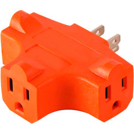 gogreen power 3 outlet cube adapter, gg-3406or - orange GoGreen Power 3 Outlet Cube Adapter, GG-3406OR - Orange