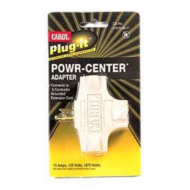carol 04781.96.17 plug-it /#174; powr-center /#174; adapter 15a/125v - beige - pkg qty 5 Carol 04781.96.17 Plug-It /#174; Powr-Center /#174; Adapter 15a/125v - Beige - Pkg Qty 5