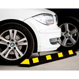 "14101 GNR; Park It; Black with Yellow Stripes Parking Curb - 48""L"