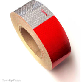 "heskins dot c2 approved conspicuity reflective tape, 6"" red/6"" white, 2"" x 150, 1 roll Heskins DOT C2 Approved Conspicuity Reflective Tape, 6"" Red/6"" White, 2"" x 150, 1 Roll"