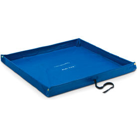 "dqe® flexible containment pool, 5l x 5w x 4""h, blue"