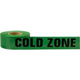 dqe® cold zone tape, 500 ft roll, green DQE® Cold Zone Tape, 500 Ft Roll, Green