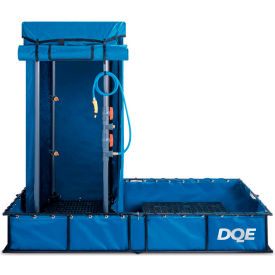 dqe® standard decon shower system, steel pool