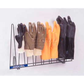 "Horizon Mfg. Glove Rack, 2054-STNLS, Stainless Steel, Holds 4 Pairs, 5-1/4""L"