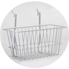 "horizon mfg. white wire basket, 5081-w, 12""l x 6""w x 6""h Horizon Mfg. White Wire Basket, 5081-W, 12""L X 6""W X 6""H"