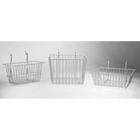 "horizon mfg. white wire basket, 5082-w, 12""l x 12""w x 4""h Horizon Mfg. White Wire Basket, 5082-W, 12""L X 12""W X 4""H"