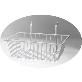 "horizon mfg. white wire basket, 5084-w, 12""l x 12""w x 8""h Horizon Mfg. White Wire Basket, 5084-W, 12""L X 12""W X 8""H"