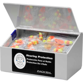 "horizon mfg. 60 pair ear plug dispenser with lid, holds 10 pair safety glasses, 5136-w, 6""l Horizon Mfg. 60 Pair Ear Plug Dispenser With Lid, Holds 10 Pair Safety Glasses, 5136-W, 6""L"