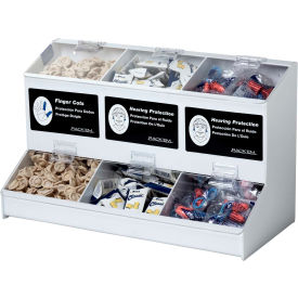 horizon mfg. 3 compartment universal dispenser, 5174-w Horizon Mfg. 3 Compartment Universal Dispenser, 5174-W