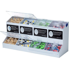 horizon mfg. 4 compartment universal dispenser, 5176-w Horizon Mfg. 4 Compartment Universal Dispenser, 5176-W
